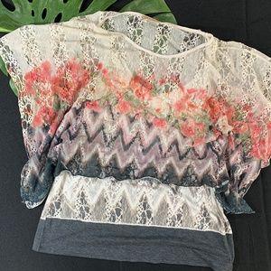 Lavish Romantic Floral Lace Boho Top